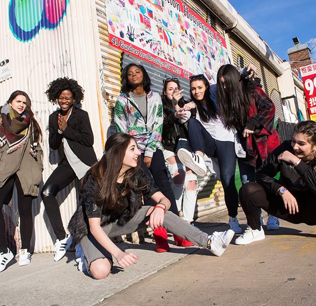 Fashion Club presidents on Adidas photo shoot