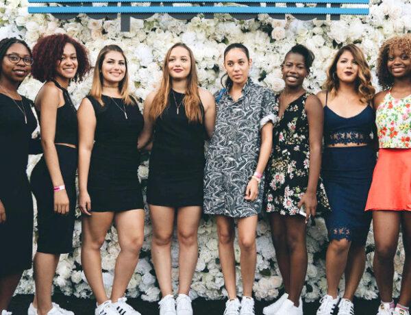 Fashion Club presidents with stylist Aleali May for Adidas