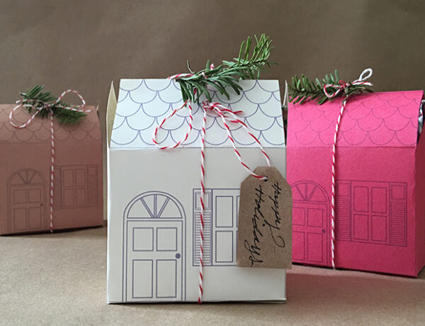 Holiday Mini House Gift Boxes