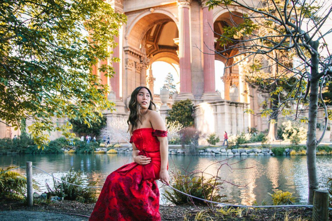 FIDM Grad Maddy Ramsey red gown design