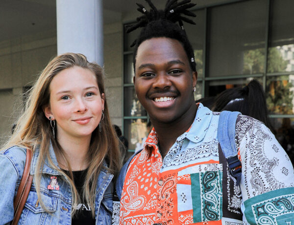 students visiting FIDM